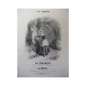 Noten & Songbooks Thys A Die Diskret Chant Piano Ca1831 Partitur Sheet Music Score 100% Original