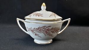 Minton-England-Bone-China-S669-Bedford-Sugar-Bowl-with-Lid