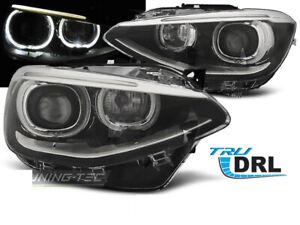 Coppia-di-Fari-Anteriori-per-BMW-F20-F21-2011-2014-AE-LED-Neri-DRL-IT-LPBMG7-ED
