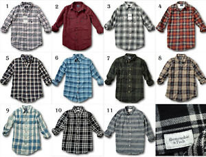 NWT-Abercrombie-amp-Fitch-Classic-Plaid-Shirt-Flannel-Oxford-Twill-100-Cotton