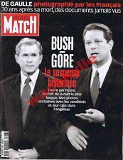 Paris Match n°2686 du 16/11/2000 George W Bush Al Gore Élections USA Souchon