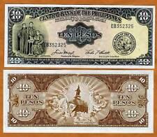 Philippines, 10 Pesos (ND) 1949, P-136e, UNC