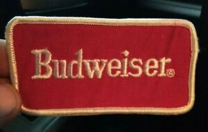 Vintage Original Budweiser Beer Collectible Embroidered Advertising Patch Used