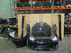 jdm subaru wrx sti sedan front end conversion fiber glass liberal