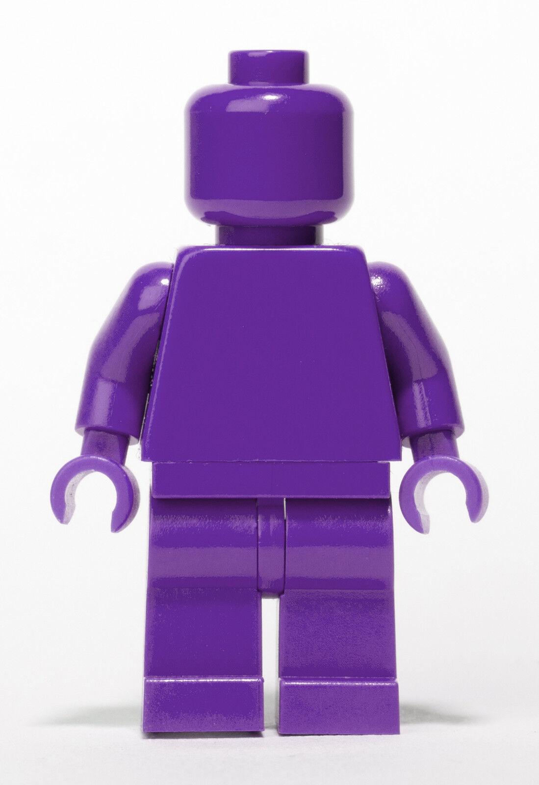 LEGO Dark Purple Purple Purple MONOFIG (Monochrome Minifigure) 4aafbd