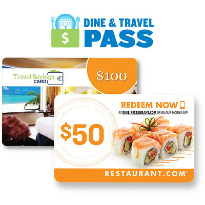 $150 Dine & Travel Pass from Restaurant.com