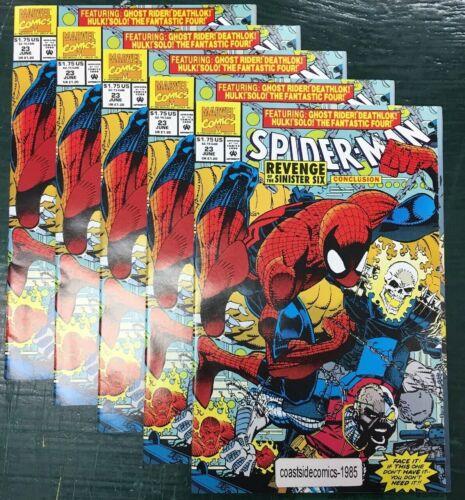 5 LOT SPIDER-MAN #23 REVENGE of the SINISTER SIX CONCLUSION ERIK LARSEN 1992 NM