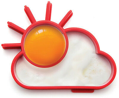 Sunnyside Silicone Egg Ring Shaping Novelty Sun Cloud Kitchen Monkey Business