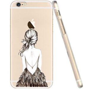 Coque-gel-souple-incassable-motif-fantaisie-pour-iPhone-6-4-7-034-Dos-de-fille
