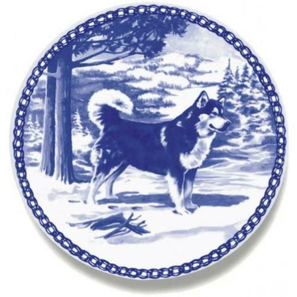 Alaskan Malamute  Dog Plate made in Denmark from the finest European Porcelain