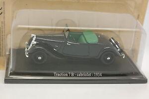 Universal-Hobbies-Presse-1-43-Citroen-Traction-7-B-Cabriolet-1934