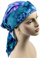 Blue, Purple, Black Pre-tied Scarf, Headwrap, Chemo, Scarf, Cancer,spring,no Tie