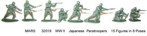 Mars-32019-WWII-Japanese-Paratroopers-plastic-toy-soldiers-15-in-8-poses