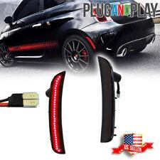 Smoked Lens Rear Bumper Red Led Side Marker Lights For 12 17 Fiat 500 Pop Lounge