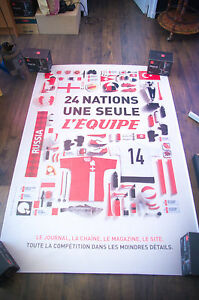 L'EQUIPE C 4x6 ft Bus Shelter Original French Sport Advertising Poster 2016