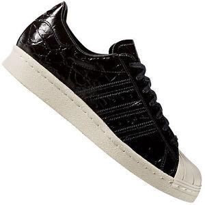 deberes pañuelo Reposición  Adidas Originales Damen-Superstar Zapatillas Zapatos Zapatillas de Charol  Negro Nuevo | eBay