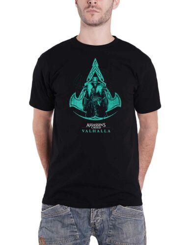 Assassins Creed Valhalla T Shirt Character Logo new Official Gamer Mens Black