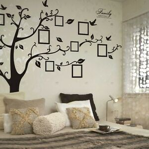 Details about Personalised Vinyl Stickers Large Family Tree Birds Frame  Living Room Wall Art