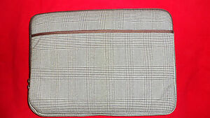14-034-Laptop-Tablet-Brown-Plaid-Neoprene-Sleeve-Case-Cover-Port-Authority-BG652M