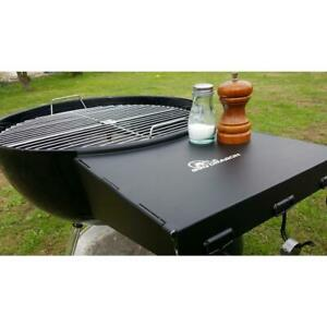 Weber Side Table.Details About Dragon Wing Folding Grill Shelf Weber Bbq Side Table Steel Charcoal Grills Fits