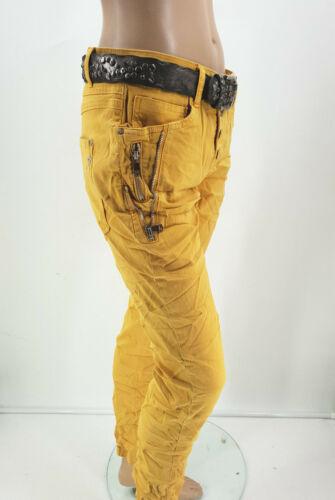 @--}-- Karostar Baggy Jeans Boyfriend Hose doppelte Reißverschlüße Gr.38-48