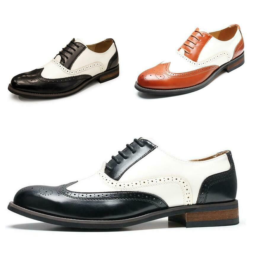 Herrenschuhe Spitz Business-Schuhe Oxford Budapester Stil Abendschuhe Formell 44