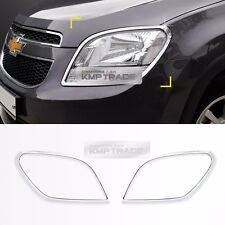 Chrome Front Head Lamp Molding Trim Garnish Cover for CHEVROLET 2010-17 Orlando