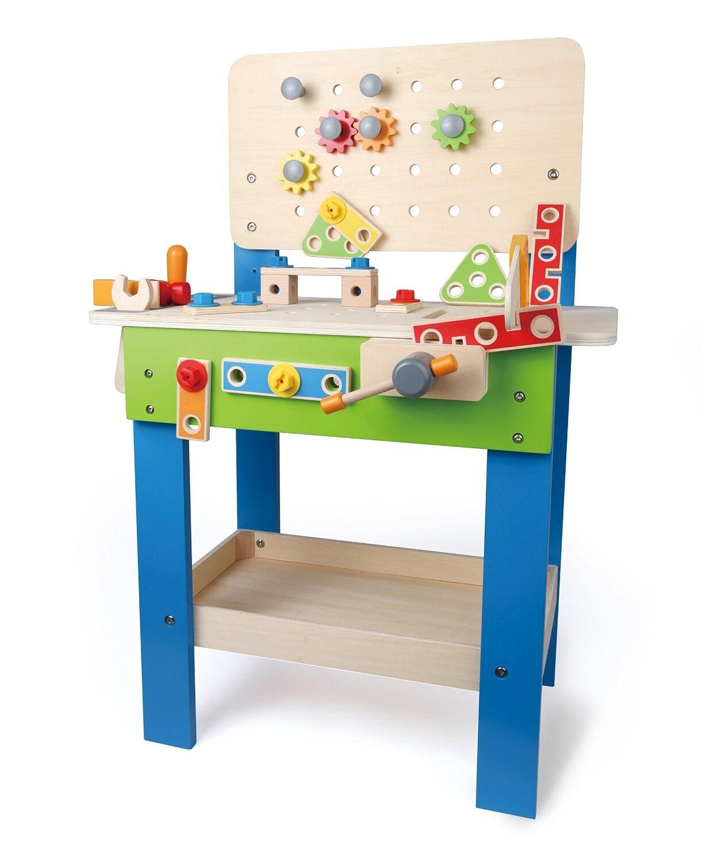 Werkbank Hape Meister Werkzeug Baumeister Holwerkbank Kinder Spielzeug Spass