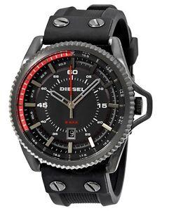 Diesel Watch * DZ1760 Rollcage Black Dial Black Silicone for Men COD #crazy1212