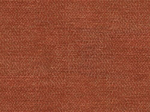 25x12,5cm rot Grundpreis 1qm=53,33 Euro Klinker NOCH 56610 Spur H0