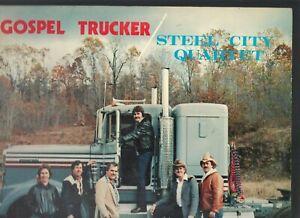 STEEL-CITY-QUARTET-Gospel-Trucker-TEA-local-Pa-80s-country-gospel-LP-NICE