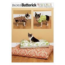 Butterick patrón de costura Chaleco De Perro Dog Coat & Cama En 2 Tamaños b6303
