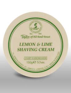 Taylor-Of-Old-Bond-Street-Lemon-amp-Lime-Scent-Mens-Shave-Shaving-Cream-150g-Bowl