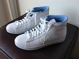 Converse-All-Star-White-Leather-Gold-High-Tops-Unisex-9-Or-10-5