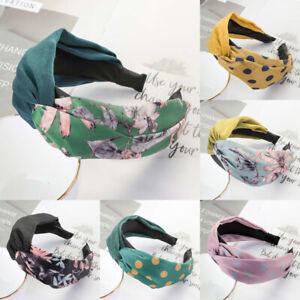 Women-039-s-Knot-Headband-Hairband-Fabric-Head-Band-Wide-Alice-Hair-Band-Accessories