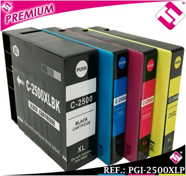 PACK INCHIOSTRO PGI 2500 XL SET COMPATIBILE CARTUCCIA STAMPANTE CANON ICT