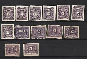 CANADA STAMPS POSTAGE DUE 1906-24,1930-24,1935-48 YEAR  * + USED