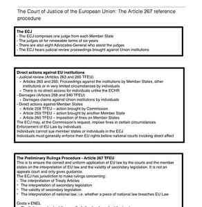 Details about EU Law LLB Revision Notes