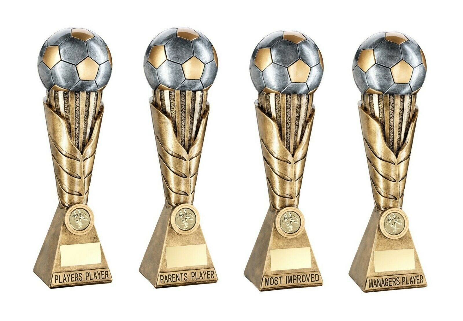 4 x 12 inch Football Trophy Major Awards engraved + postage free (RRP .00)