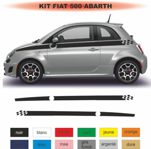 Fiat-500-Autocollant-Bandes-damiers-Stckers-decoration-adhesif-Kit