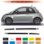 Fiat-500-Autocollant-Bandes-damiers-Stckers-decoration-adhesif-Kit miniatura 1