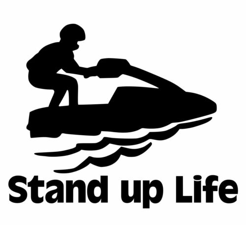 Stand up jet ski sticker decal jetski standup propeller wakeboard rotary 2 cycle