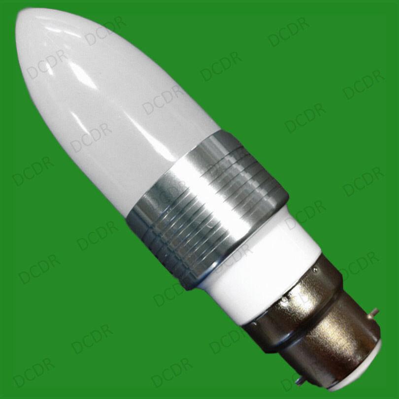 25 X 3w Led bajo Consumo 6400k Luz Natural blancoa Bombillas Tipo Vela BC B22