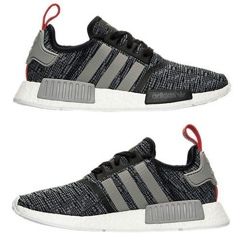 ADIDAS NMD RUNNER CASUAL MEN's CORE BLACK - SOLID GREY - WHITE AUTHENTIC USA SZ