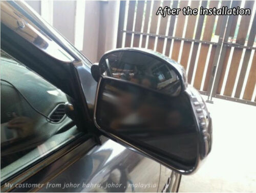 Super Aero Visor Car Side View Mirror Rain Blower Black