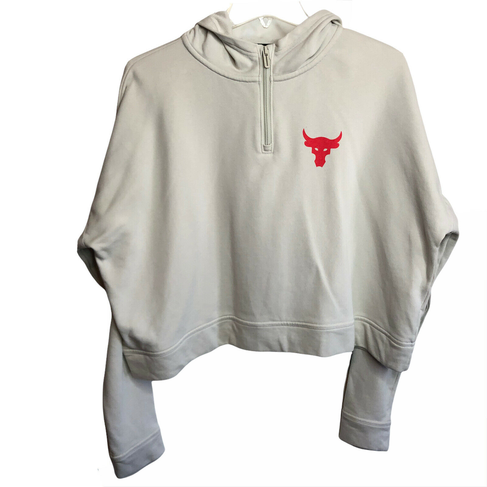 Under Armour Women's Project Rock Terry Pullover Hoodie Dwayne Johnson Sz M