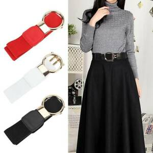 Details about Ladies Women Fashion Gold Wide Narrow Stretch Elastic Waist Belt Party Gifts UK