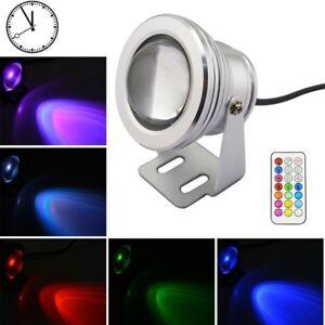 FARO-FARETTO-LAMPADA-COB-LED-RGB-10W-WATT-12V-ESTERNO-WATERPROOF-CON-TELECOMANDO