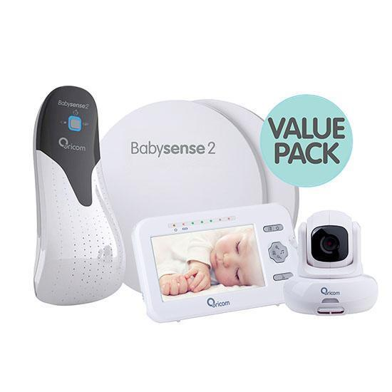ORICOM SECURE 850 TILT VIDEO BABY MONITOR+BABYSENSE 2 INFANT RESPIRATORY PACK