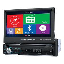 """Power Acoustik PDN-726B Single Din AM/FM/DVD & Bluetooth 7"""" Car Radio w/Nav"""